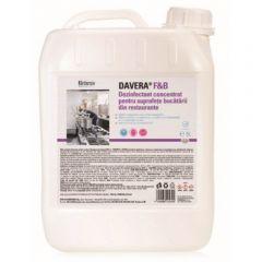 Dezinfectant concentrat pentru suprafetele din bucatariile restaurantelor, 5L, Davera F&B, Klintensi