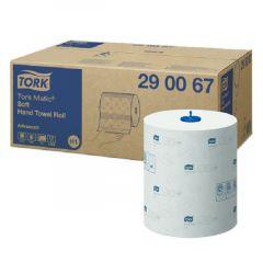 Prosop hartie alb pt dispenser, 2 straturi, 150ml, 6 role/bax, Tork Matic 290067
