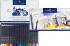 Creioane colorate 36culori/set, cutie metal, Goldfaber, Faber Castell