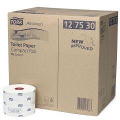 Hartie igienica alba cu imprimeuri, pt dispenser, 2 straturi, 100ml, 27role/bax Tork 127530