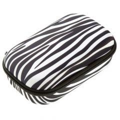 Penar neechipat, 1 fermoar, tip borseta mare,zebra, Colorz Storage ZIPIT