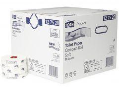 Hartie igienica alba cu imprimeuri, pt dispenser, 2 straturi, 90ml, 27role/bax Tork 127520