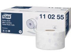 Hartie igienica alba, pt dispenser, 3 straturi, 120ml, 12role/bax Tork Extra Soft 110255