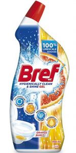 Detergent pentru dezinfectarea toaletei, Orange Burst, 700ml Hygienically Clean & Shine Gel Bref