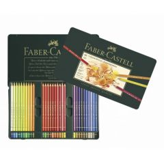 Creioane colorate, in cutie metal, 60culori/set, Polychromos Faber Castell