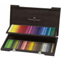 Creioane colorate, in cutie lemn, 120culori/set, Polychromos Faber Castell