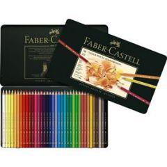 Creioane colorate, in cutie metal, 36culori/set, Polychromos Faber Castell