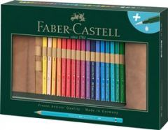 Creioane colorate acuarela, rollup si pensula, 30culori/set, A.Durer, Faber Castell-FC117530