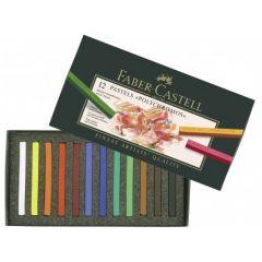 Creioane pastel, 12culori/set, Polychromos Pastels, Faber Castell