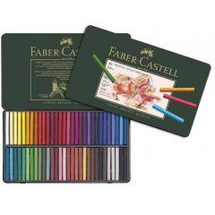 Creioane pastel, in cutie metal, 60culori/set, Polychromos Pastels, Faber Castell