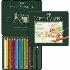 Creioane colorate acuarela, in cutie metal, 12culori/set, A.Durer Magnus, Faber Castell-FC116912