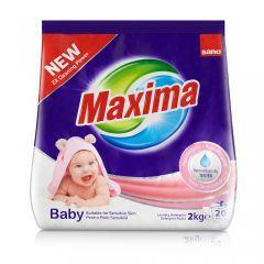 Detergent pudra pentru tesaturi, automat, 2kg, Maxima Baby Sano