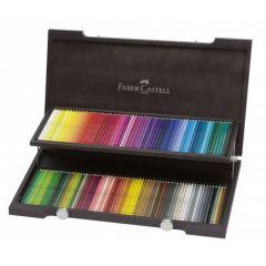 Creioane colorate acuarela, in cutie lemn, 120culori/set, A.Durer, Faber Castell-FC117513