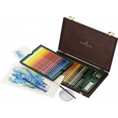 Creioane colorate acuarela, in cutie lemn, 48culori/set, A.Durer, Faber Castell-FC117506