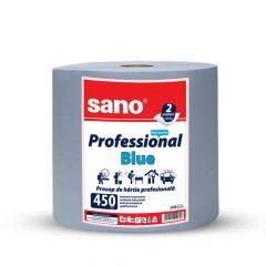 Prosop hartie albastra industriala, 2 straturi, 1,5 kg, Professional Blue 450 Sano