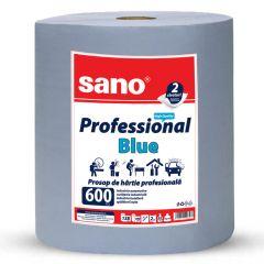 Prosop hartie albastra industriala, 2 straturi, 2 kg, Professional Blue 600 Sano
