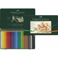 Creioane colorate acuarela, in cutie metal, 24culori/set, Magnus, A.Durer-Faber Castell-FC116924