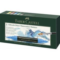 Markere solubile in apa, 5culori/set, A.Durer, Faber Castell-FC160305