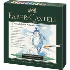 Markere solubile in apa, 10culori/set, A.Durer, Faber Castell-FC160310