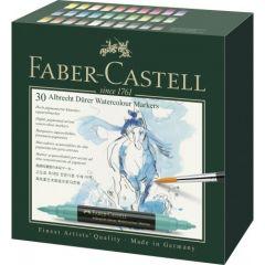 Markere solubile in apa, 30culori/set, A.Durer, Faber Castell-FC160330