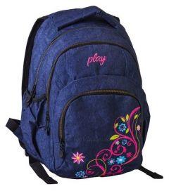 Ghiozdan scolar Exa Flower Jeans Koh I Noor