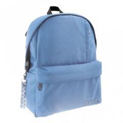 Ghiozdan scolar R-Pet albastru deschis Koh I Noor