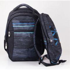 Rucsac 2 in 1, culoare negru+albastru deschis, Koh I Noor