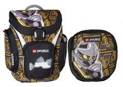 Ghiozdan scolar Explorer + sac sport Core Line, design negru NinjaGo Cole LEGO