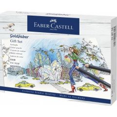 Creioane colorate si accesorii, 23piese/set, Goldfaber, Faber Castell-FC114714