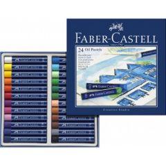 Creioane ulei pastel, 24culori/set, Faber Castell-FC127024