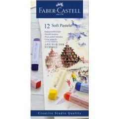 Creioane pastel soft, 12culori/set, Faber Castell