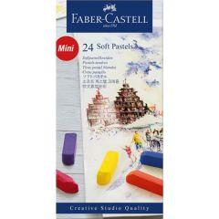 Creioane pastel soft, mini, 24culori/set, Faber Castell