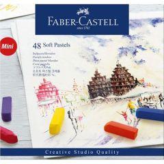 Creioane pastel soft, mini, 48culori/set, Faber Castell