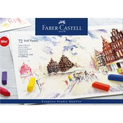 Creioane pastel soft, mini, 72culori/set, Faber Castell-FC128272