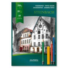 Bloc desen A4, 20file, 250g/mp, Steinbach Aurora