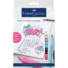 Permanent marker, pentru caligrafie, 9piese/set, Bullet Journaling, Pitt Artist Pen, Faber Castell