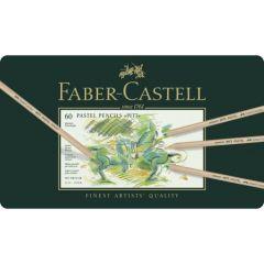 Creioane colorate, in cutie metal, 60culori/set, Pastel Pitt, Faber Castell