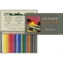 Creioane colorate, in cutie metal, 36culori/set, Polychromos, Faber Castell