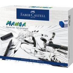 Liner, 3buc/set, negru, creion mecanic si accesorii, Pitt Artist Pen Manga, Faber Castell-FC167152