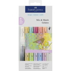 Pastel solubil, 12culori/set, culori pastel, Gelatos, Faber Castell