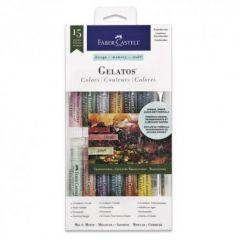 Pastel solubil, 12culori/set, culori translucide, Gelatos, Faber Castell-FC121818