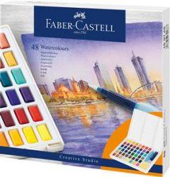 Acuarele pe baza de apa, 48culori/set, Creative Studio, Faber Castell-FC169748