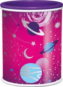 Ascutitoare dubla cu rezervor roz Cosmic Kids Maped