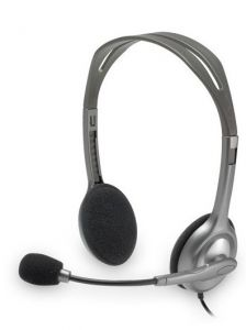 Casti on-ear, gri, cu fir, H110 Logitech