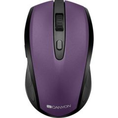 Mouse optic, wireless, 6 butoane si 1 scroll, negru-mov, CNS-CMSW08V, Canyon