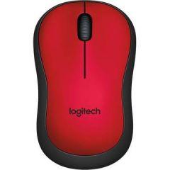 Mouse optic, wireless, rosu, 3 butoane si 1 scroll, M220 Silent EMEA Logitech