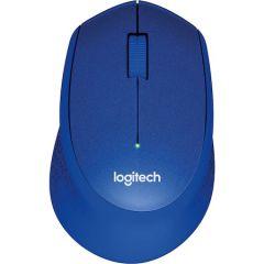 Mouse optic, wireless, 3 butoane si 1 scroll, albastru, Silent Plus M330 Logitech