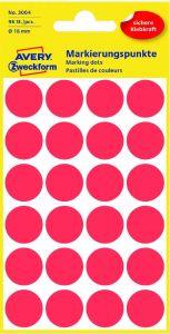 Etichete autoadezive rotunde, diam.18mm, 96buc/set, rosu, Avery Zweckform
