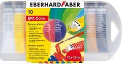 Tempera pe baza de apa, 10 culori, Eberhard Faber