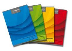 Caiet A4, 60file, dictando, diferite culori, Office Aurora